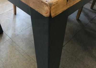 Rough Sawn Table Painted